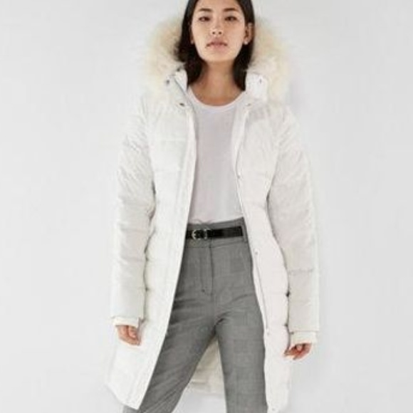 584a5bdd01b White Long Down Belted Smocked Puffer Jacket Coat